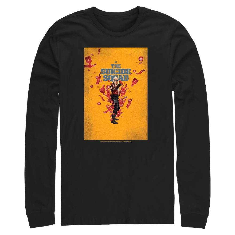 Black THE SUICIDE SQUAD Savant Poster Long Sleeve Tee Image