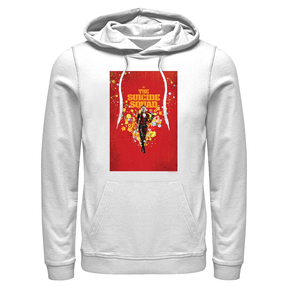 White THE SUICIDE SQUAD Harley Quinn Poster Hoodie Image