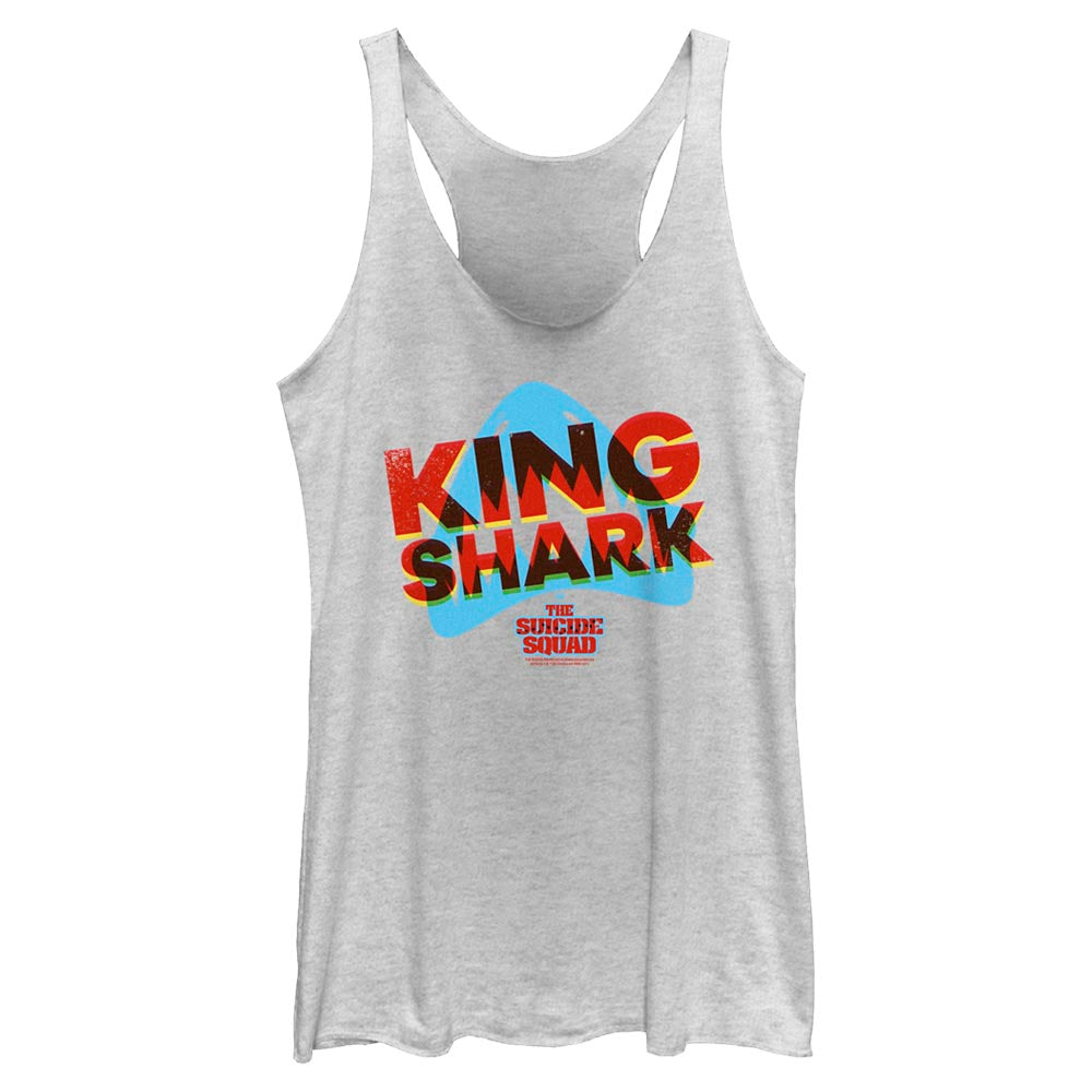 THE SUICIDE SQUAD King Shark 3D Icon Women's Racerback Tank