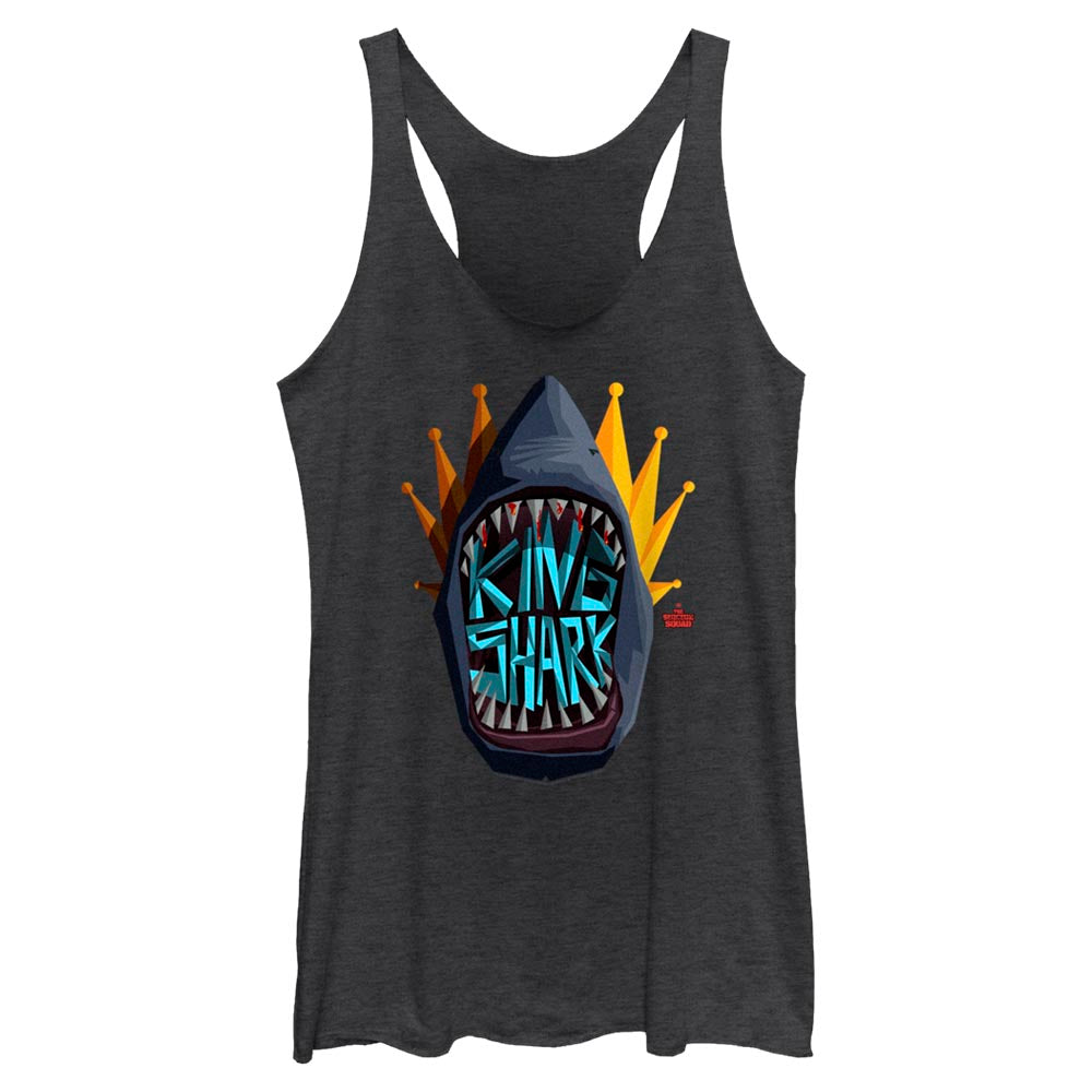 THE SUICIDE SQUAD King Shark Graphic Icon Women's Racerback Tank