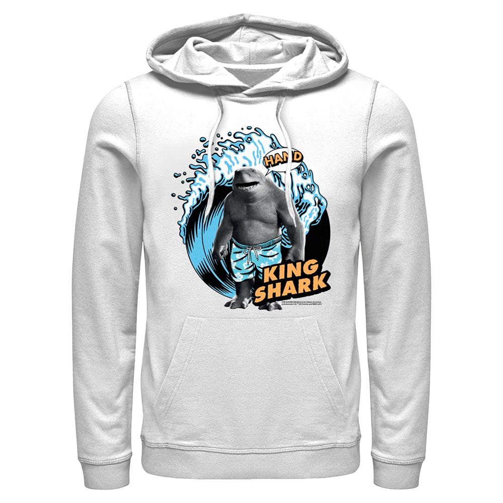 White THE SUICIDE SQUAD King Shark Wave Hoodie Image