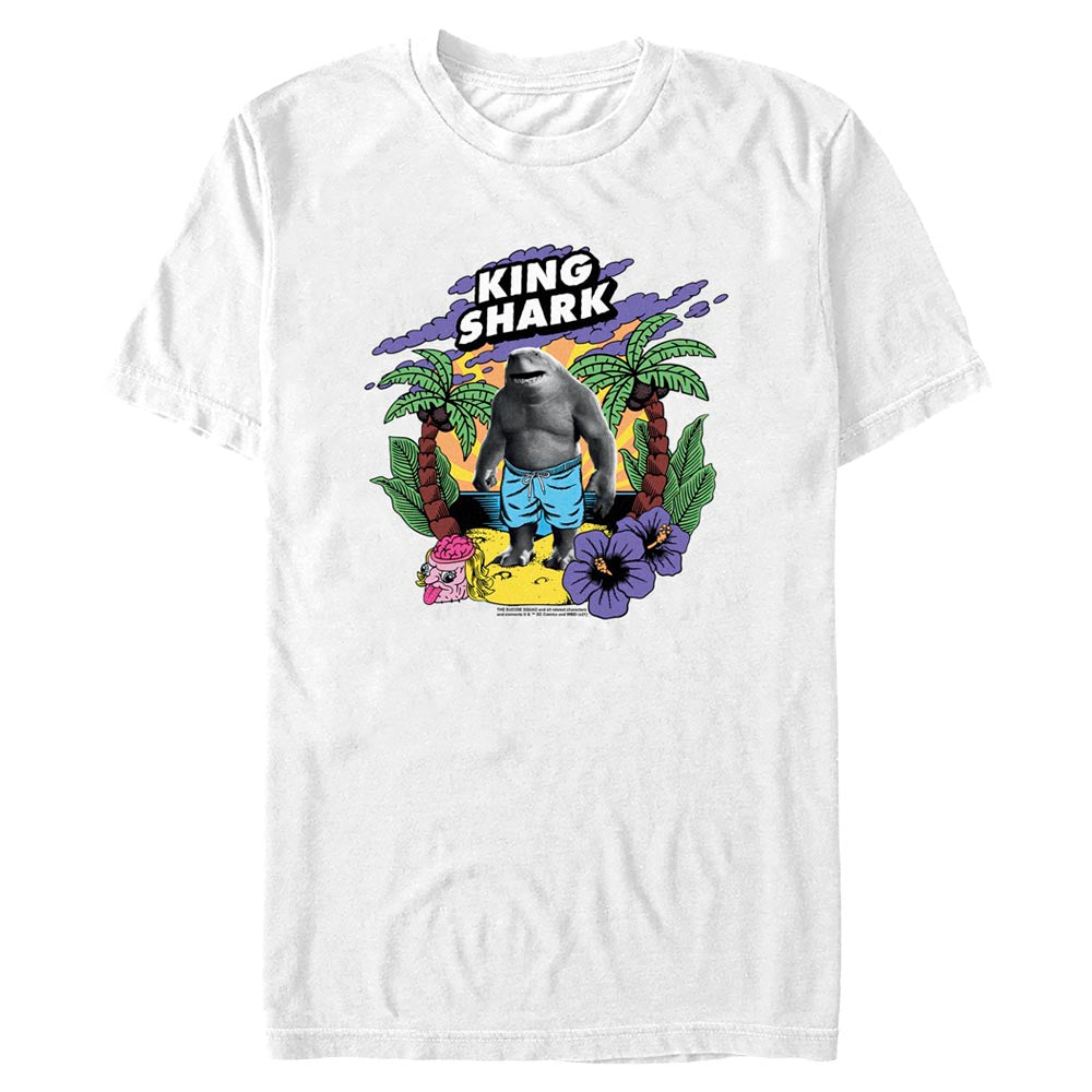 White THE SUICIDE SQUAD King Shark Tropical T-shirt Image