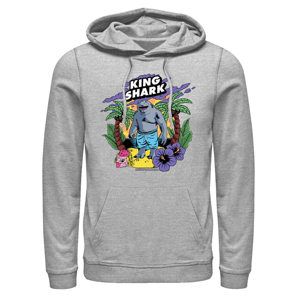 Grey Heather THE SUICIDE SQUAD King Shark Tropical Hoodie Image