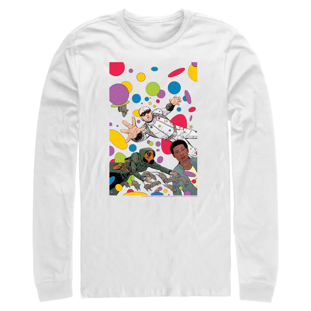 White THE SUICIDE SQUAD Floating Dots Long Sleeve Tee Image