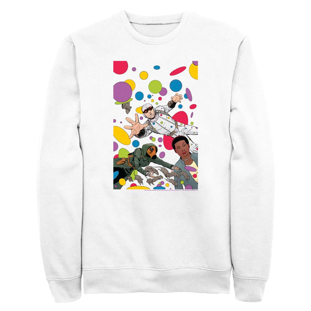 White THE SUICIDE SQUAD Floating Dots Crew Sweatshirt Image