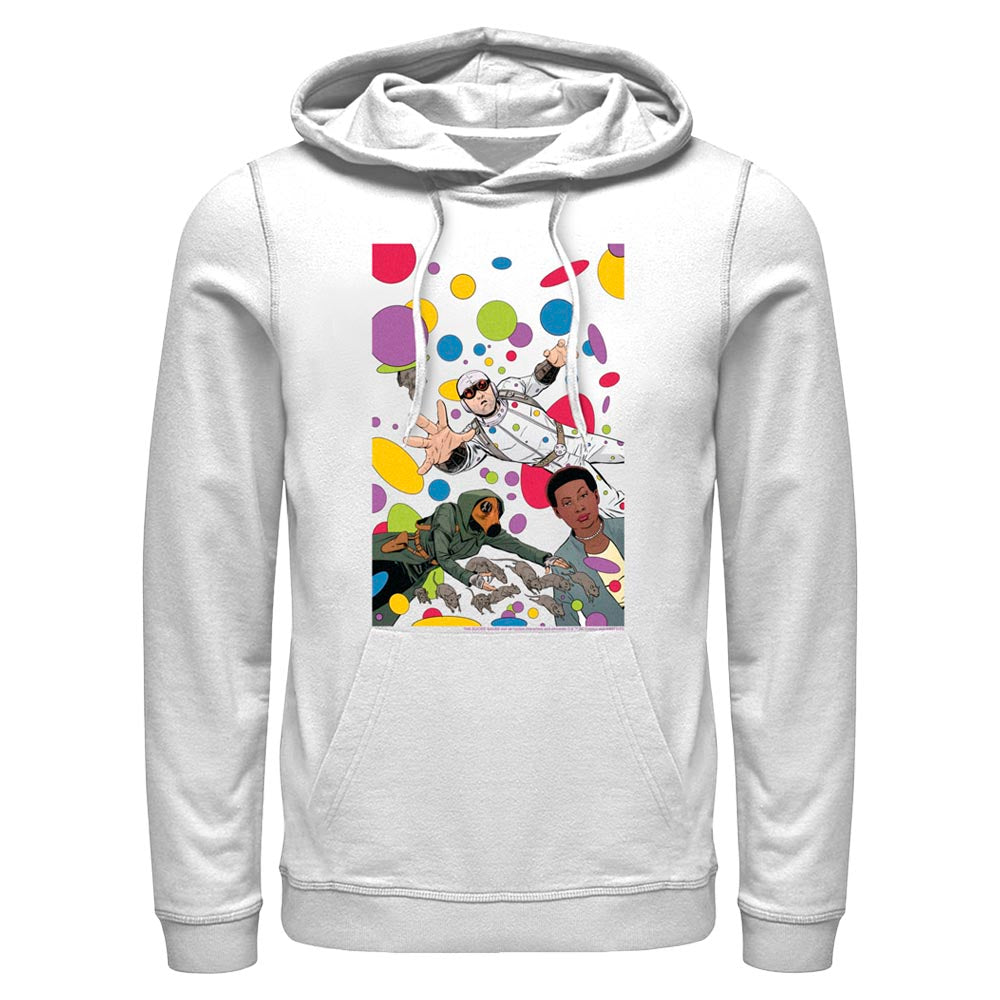 White THE SUICIDE SQUAD Floating Dots Hoodie Image