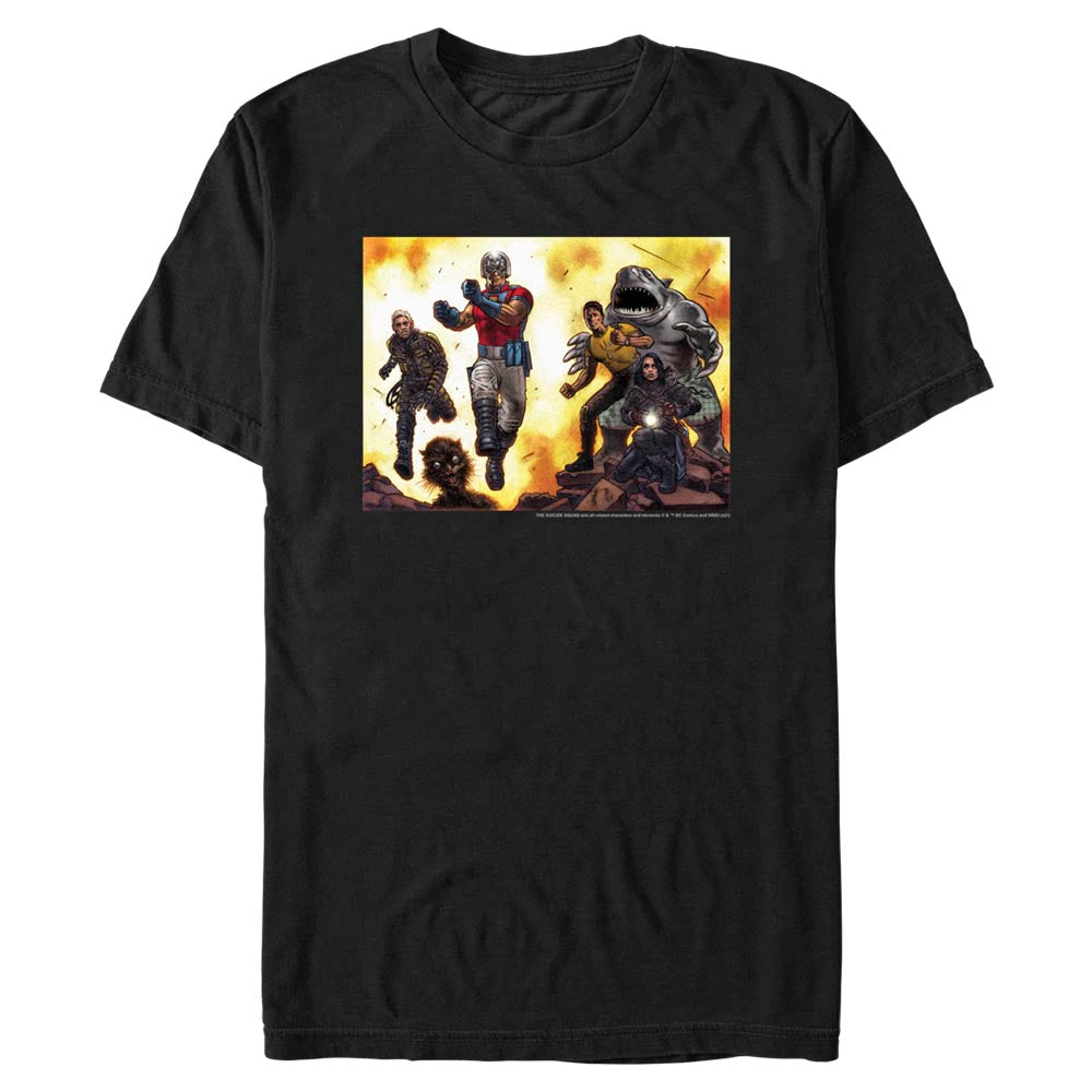 Black THE SUICIDE SQUAD Illustrated T-Shirt Image
