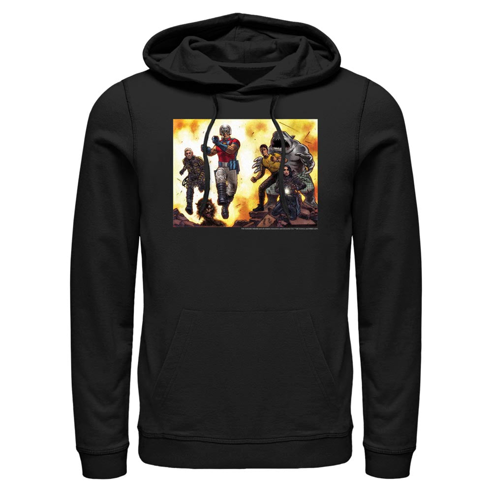 Black THE SUICIDE SQUAD Illustrated Hoodie Image