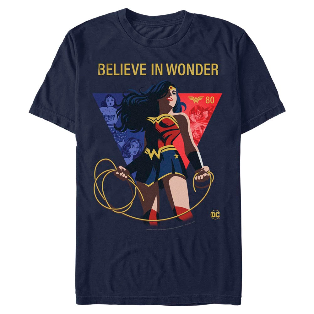 "WONDER WOMAN 80TH ANNIVERSARY ""Believe in Wonder"" T-Shirt"