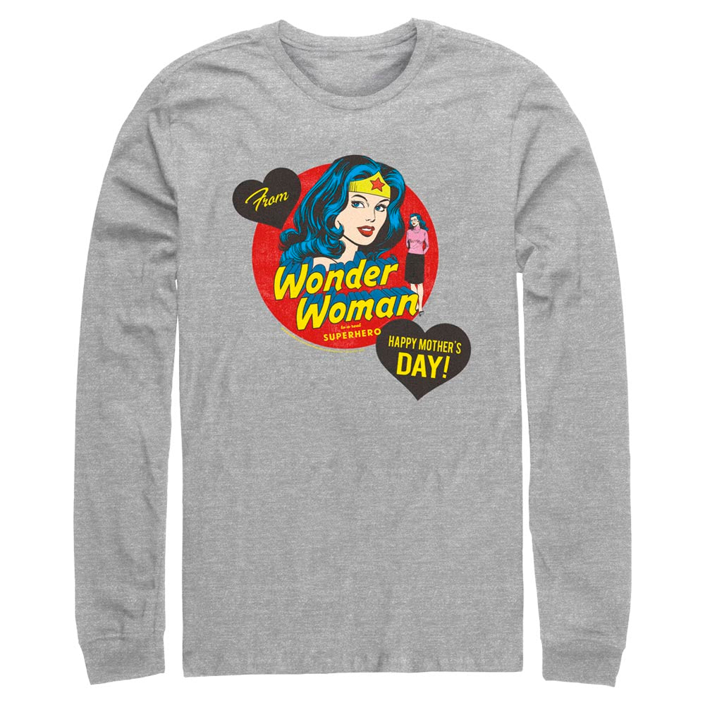 Grey Heather DC MOTHER'S DAY From Wonder Woman Long Sleeve Tee Image