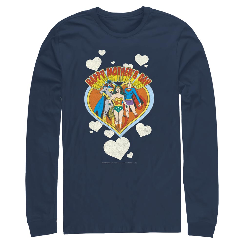 Navy DC MOTHER'S DAY Heart Long Sleeve Tee Image