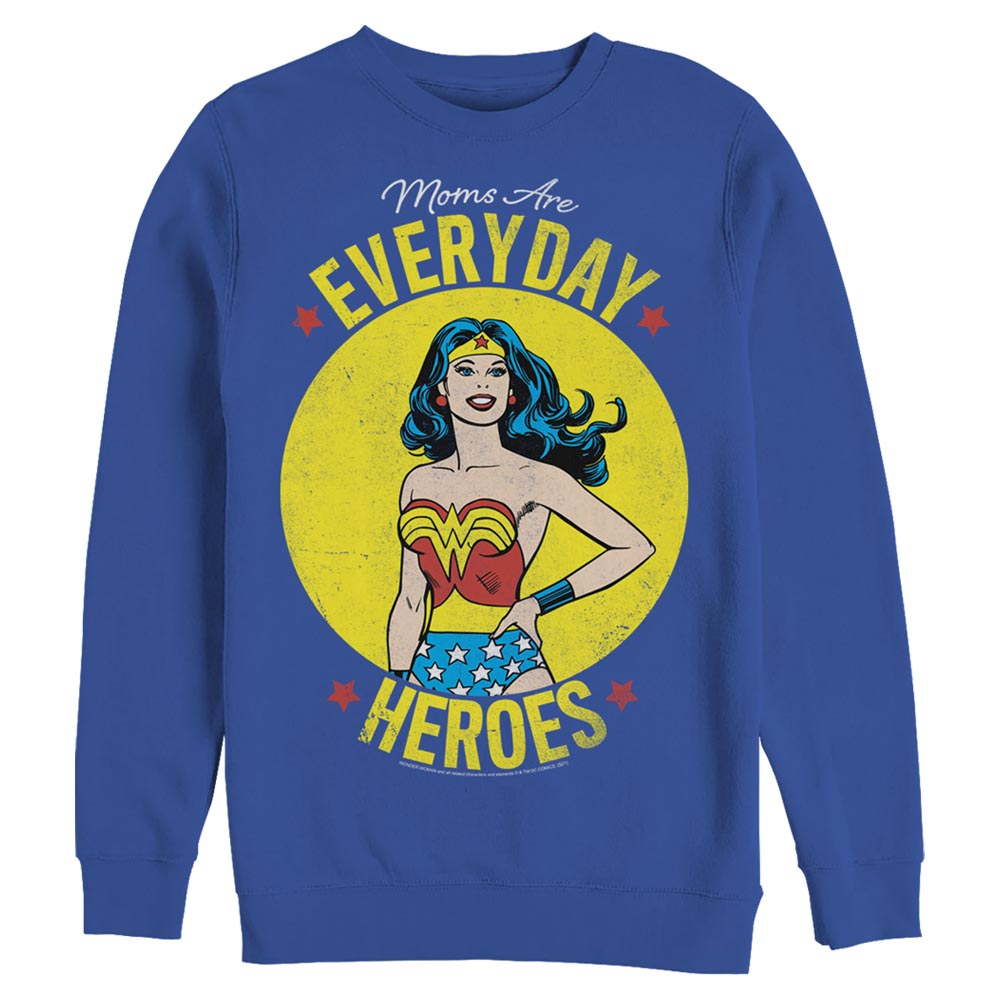 Royal Blue DC MOTHER'S DAY Everyday Heroes Crew Sweatshirt Image