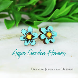 Garden Flowers Stud Earrings
