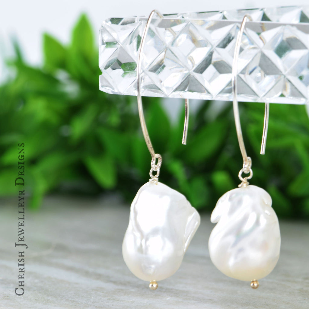 Baroque Pearl Marquise Earrings