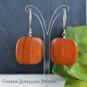 Bayong Square Earrings
