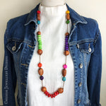 Bayong & Rainbow Howlite Rondelle Necklace