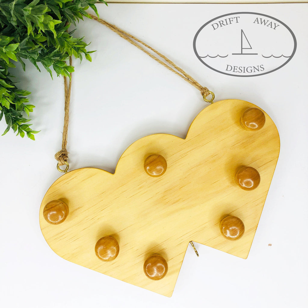 Double Heart Jewellery Hanger