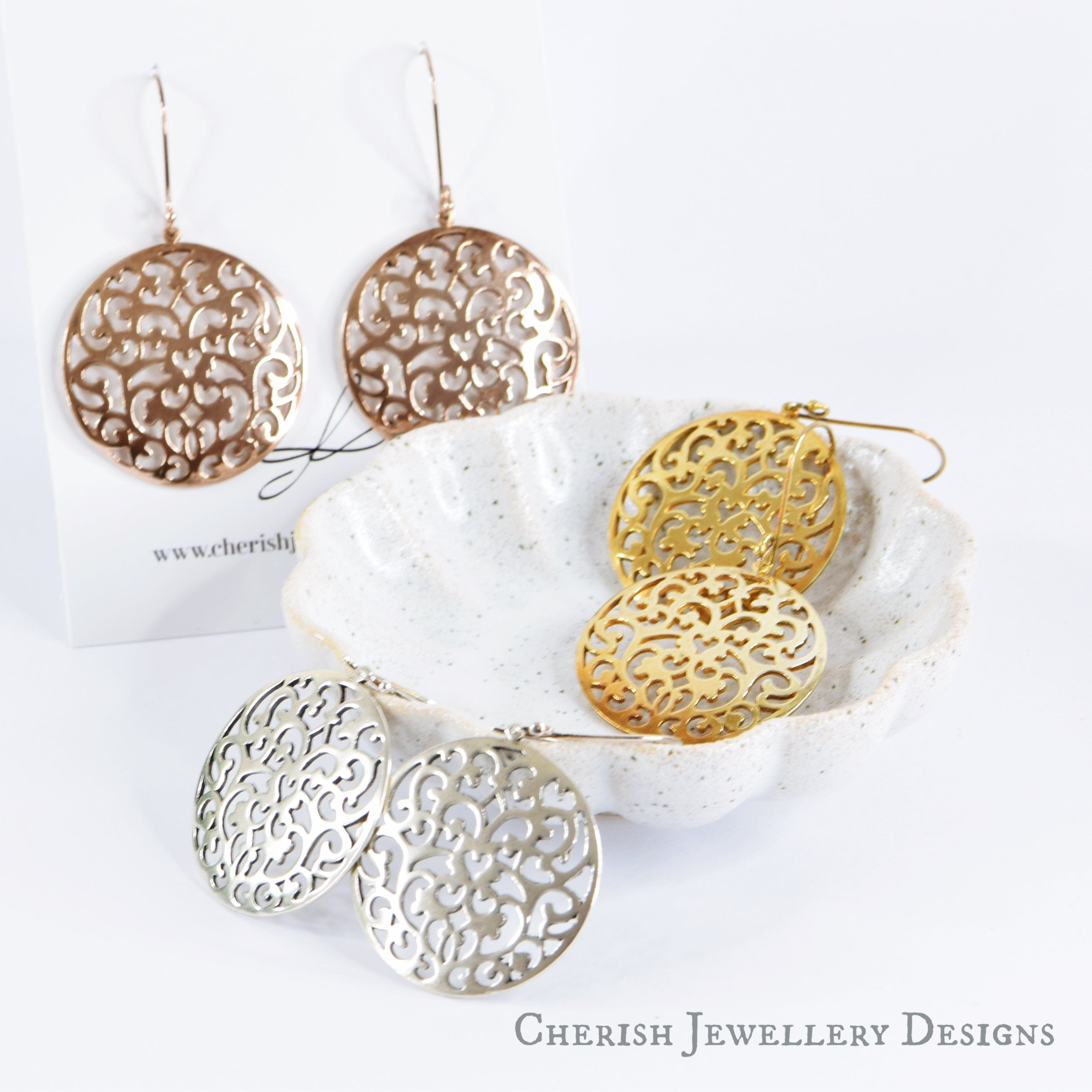 Vermeil Filigree Earrings