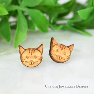 Happy Kitties Stud Earrings