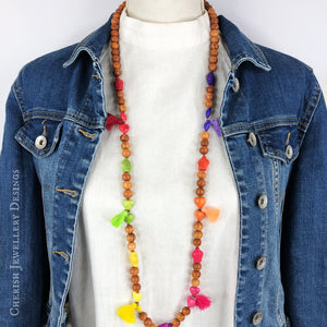 Juliette Mini Tassel Necklace - Bright Turtle Love