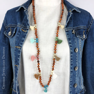 Juliette Mini Tassel Necklace - Pastel