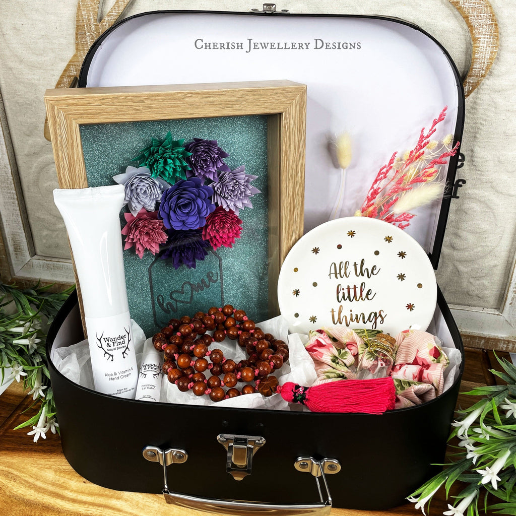 Large Black Suitcase Gift Box