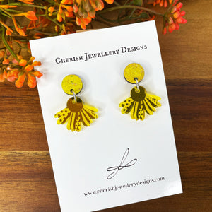 Mini Sunflower Stud Drops