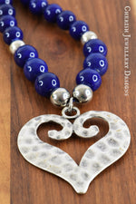 Moroccan Blue Heart Necklace