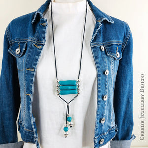 Nala Necklace in Teal