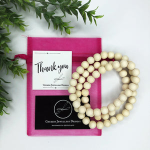 Neutral Colours Classic Timber Necklaces
