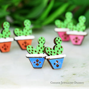 Potted Cactus Small
