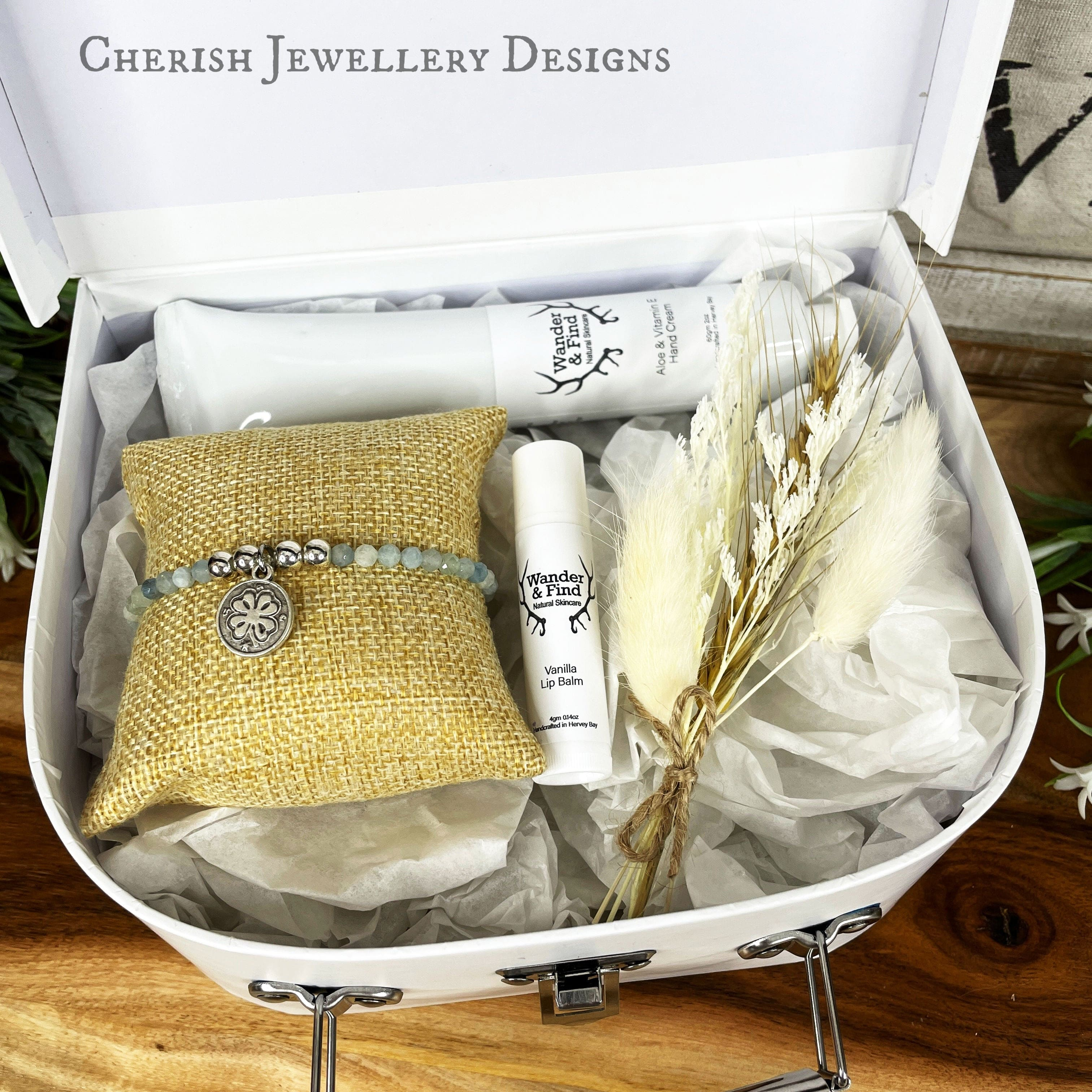 Small White Suitcase Gift Box