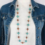 Turquoise Pumpkin Howlite Necklace