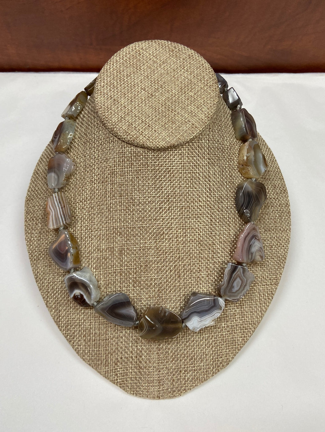 Gray Marbleized Necklace