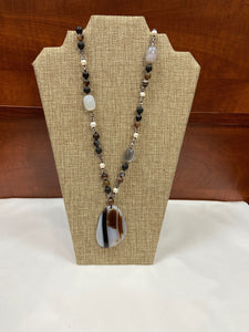Marble Stone Lariat Necklace