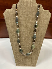 Load image into Gallery viewer, Earth Tone Lariat Necklace