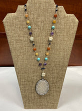 Load image into Gallery viewer, Geo Stone Lariat Necklace