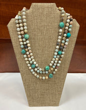 Load image into Gallery viewer, Turq Earthy Stone Necklace