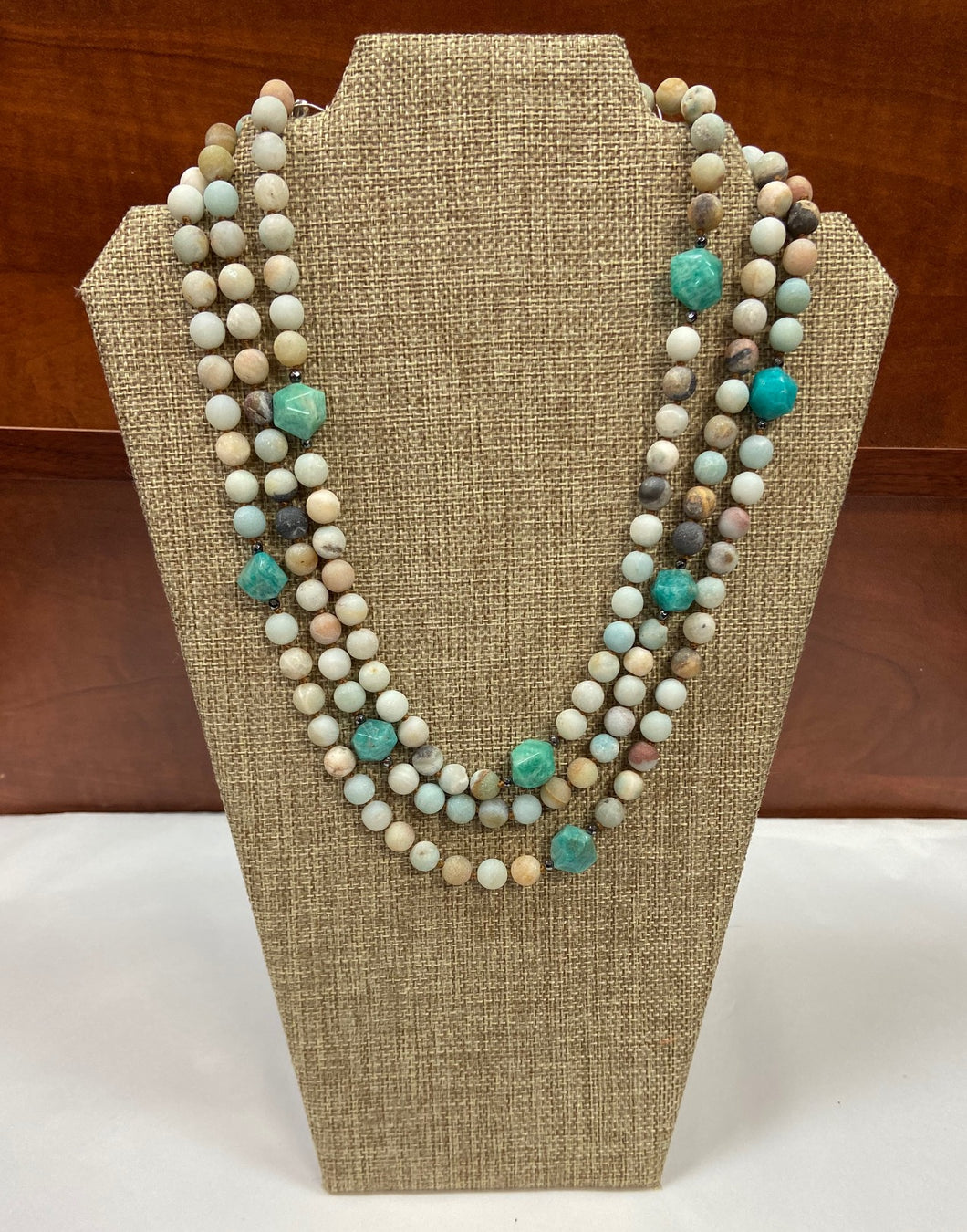 Turq Earthy Stone Necklace