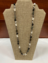Load image into Gallery viewer, Classic Black White Lariat Necklace