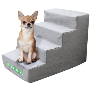 Ruedamann Comfortable Pet Stairs/Pet Ramp/Pet Ladder for Cats/Dogs, Portable/Lightweight, Sturdy