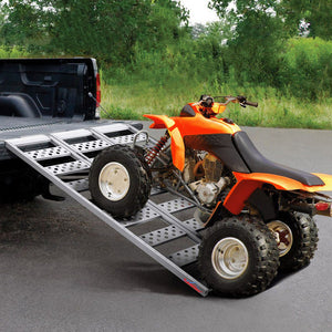 "Ruedamann 45"" W x 69"" L Aluminum Tri-Fold Loading Ramp,Durable Loading Ramp for Lawnmowers,ATVs,UTVs, Motorcycles,Trucks etc,Holds up to 1500 lb(AR4026)"