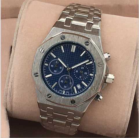 audemars piguet royal oak blue color watch for men