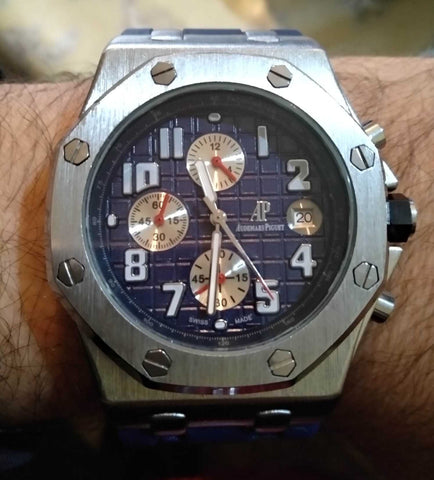 Wrist Watch For Men Royal Oak Offshore Chrono Stainless Rubber Strap