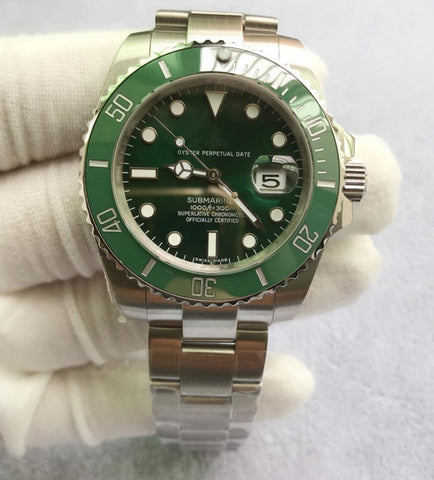 Rolex Luxury Branded Ceramic Bezel Mechanical Self-wind Wrist Watch for Men Green