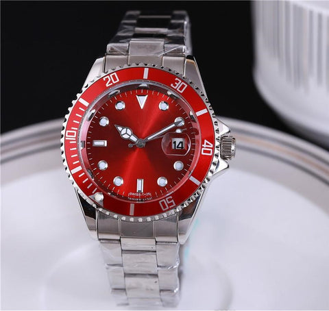 red wrist watch for men