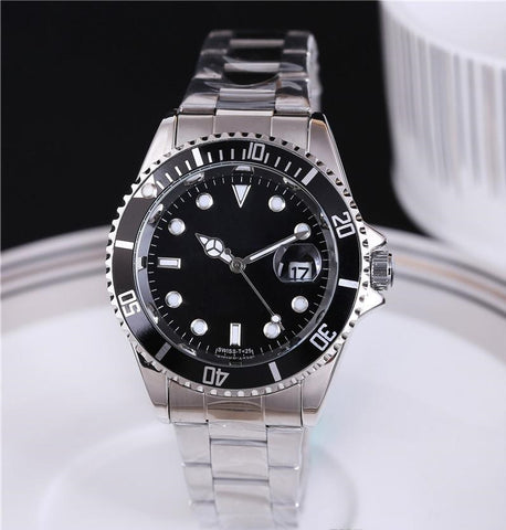 Black wrist watch for men