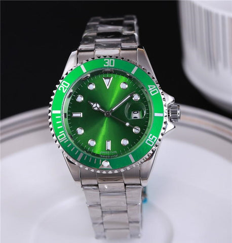 green wrist watch for men