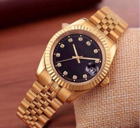 women's wristwatches gold color