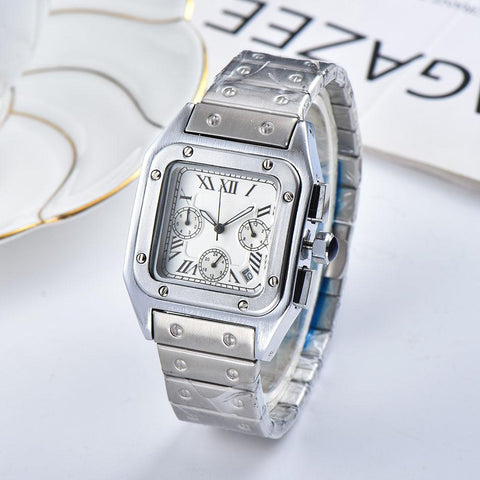 Silver color Men's wrist watch